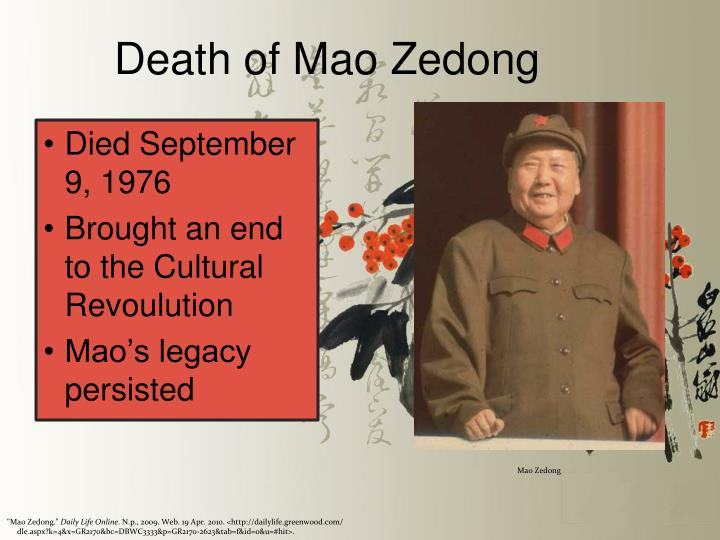 Death of Mao Zedong