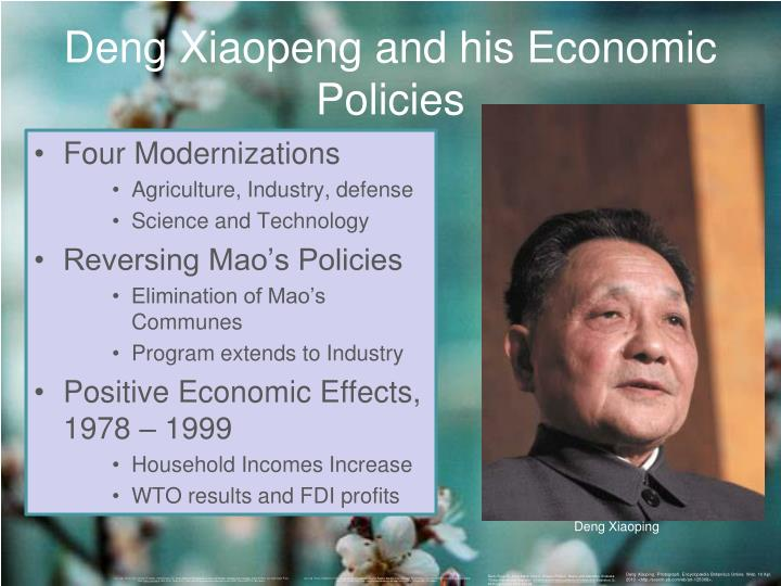 Deng Xiaopeng and his Economic Policies
