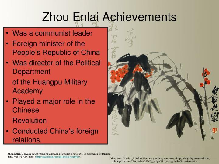 Zhou Enlai Achievements