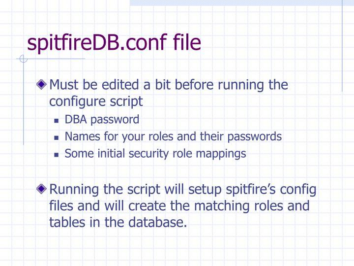 spitfireDB.conf file