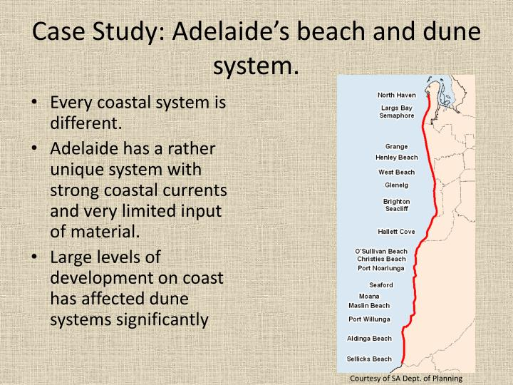 Case study adelaide s beach and dune system