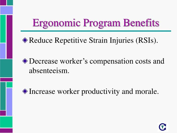 Ergonomic Program Benefits