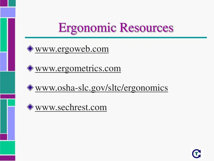 Ergonomic Resources
