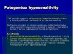 patogen za hyposenzitivity