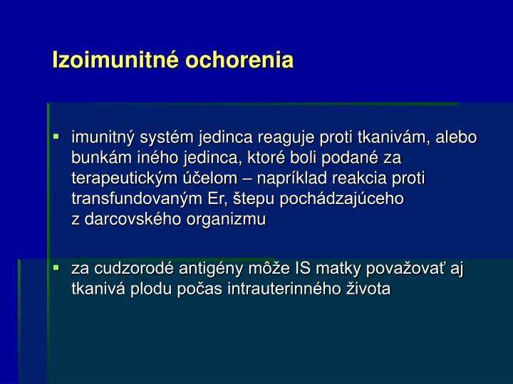 Izoimunitné ochorenia
