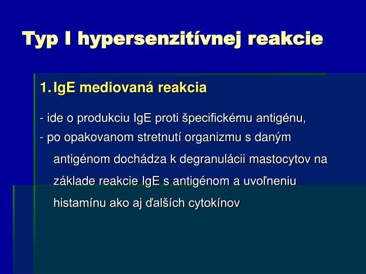 Typ I hypersenzitívnej reakcie