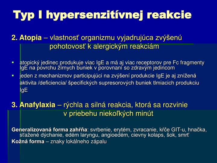 Typ Ihypersenzitívnej reakcie