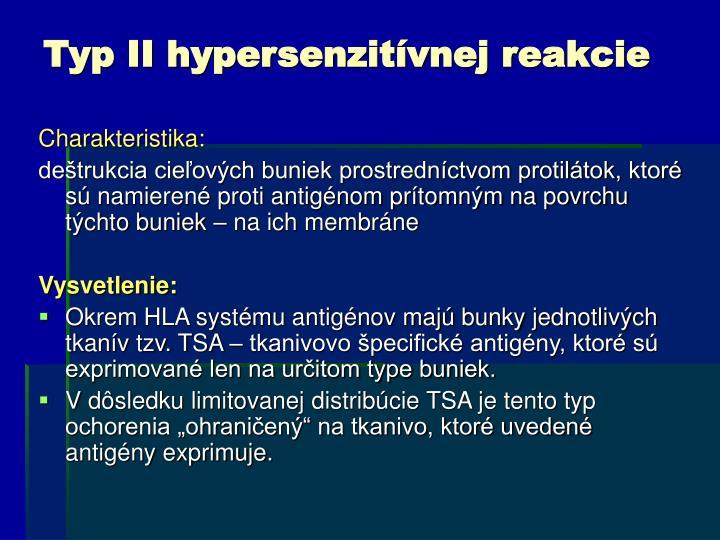 Typ II hypersenzitívnej reakcie