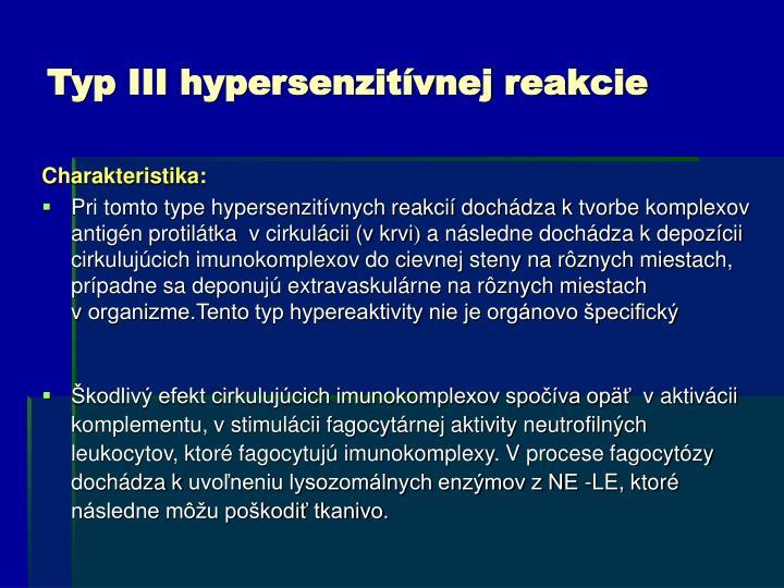 Typ III hypersenzitívnej reakcie