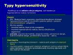 typy hypersenzitivity