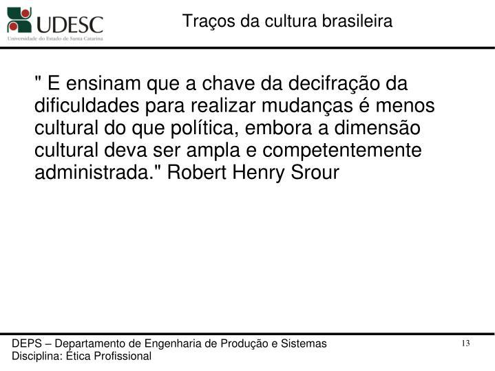 Traços da cultura brasileira