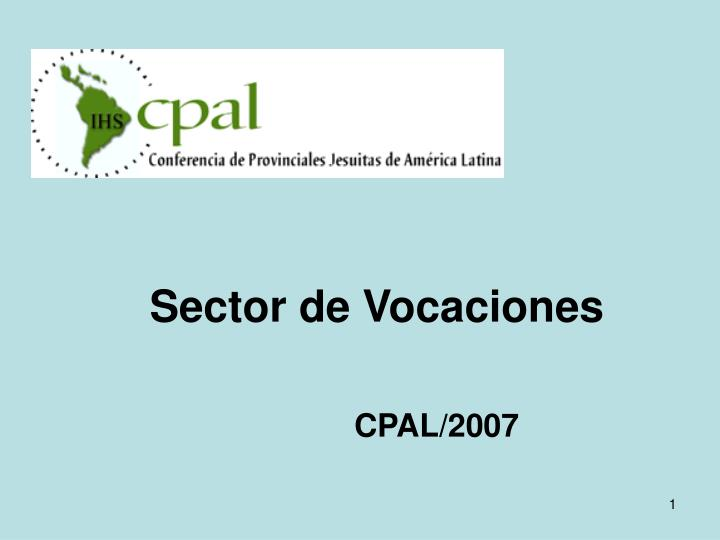 Sector de vocaciones