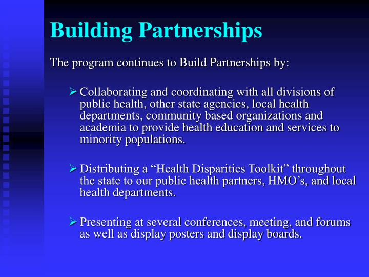 Building Partnerships