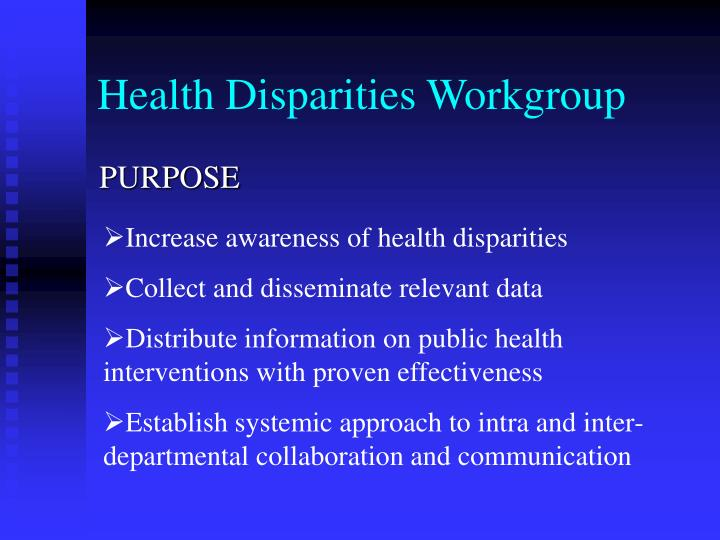Health Disparities Workgroup