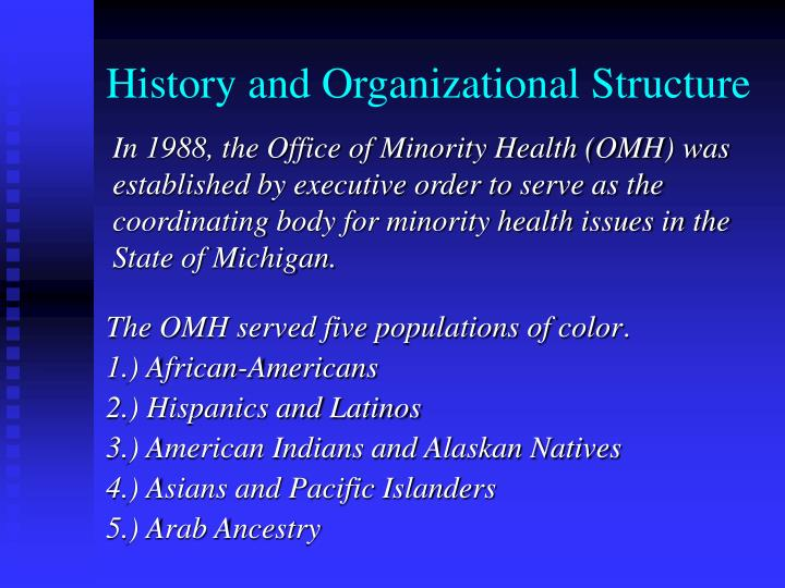 History and organizational structure