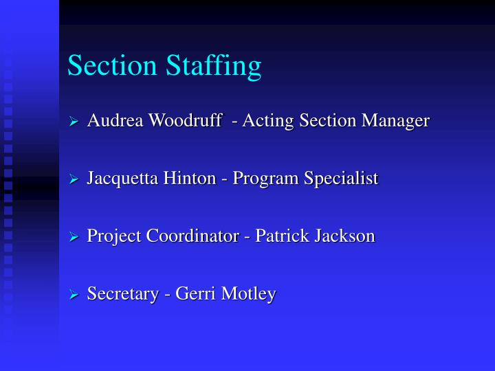 Section Staffing