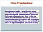 clima organizacional1