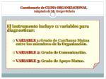 cuestionario de clima organizacional adaptado de mc gregor schein