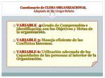 cuestionario de clima organizacional adaptado de mc gregor schein1