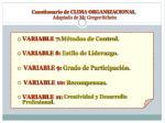 cuestionario de clima organizacional adaptado de mc gregor schein2