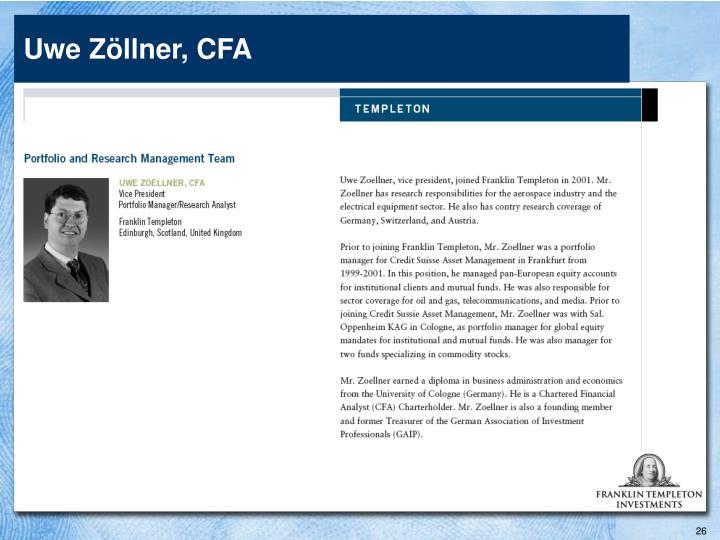 Uwe Zöllner, CFA