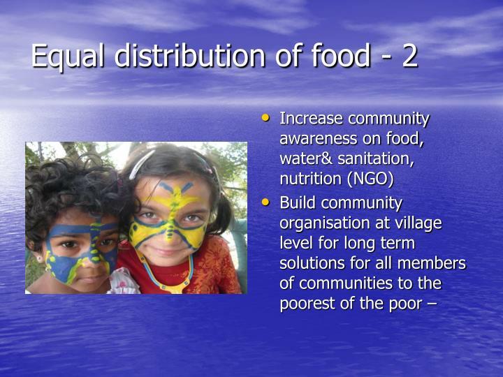 Equal distribution of food - 2