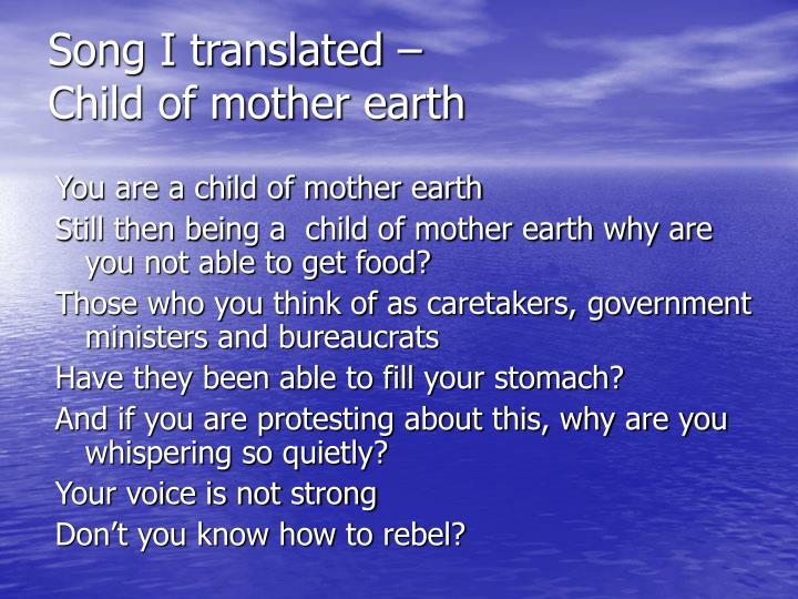 Song I translated –
