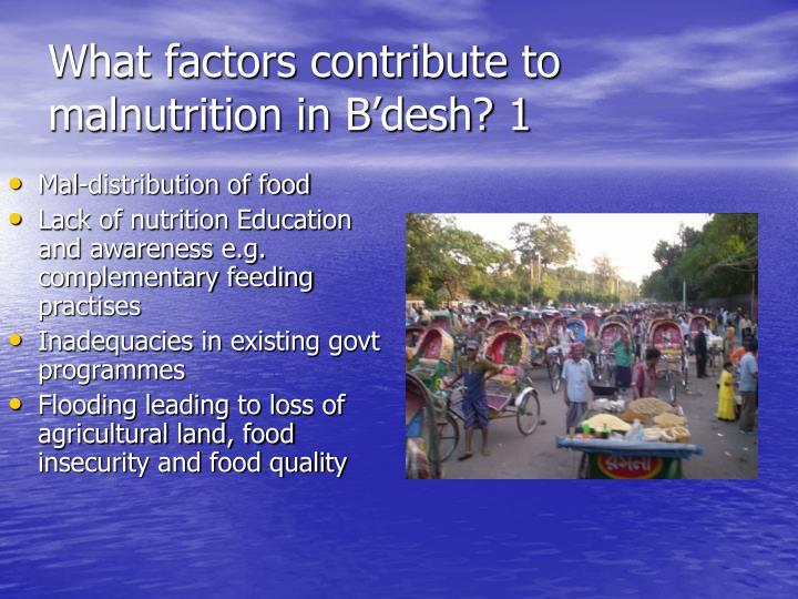 Mal-distribution of food