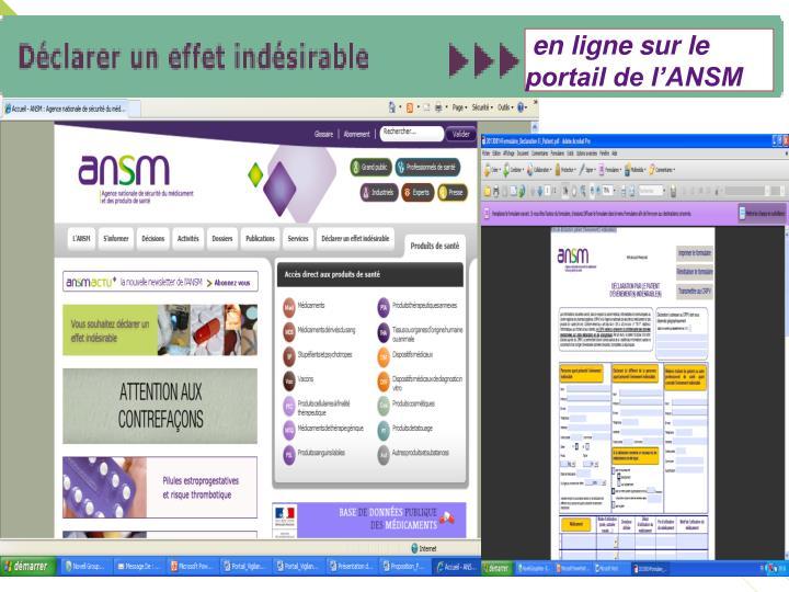 en ligne sur le portail de l'ANSM