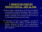 2 desenvolvimento institucional art 24 xiii5