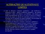 altera es qualitativas e limites1
