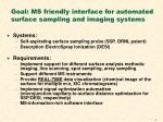 goal ms friendly interface for automated surface sampling and imaging systems