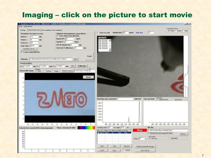 Imaging – click on the picture to start movie