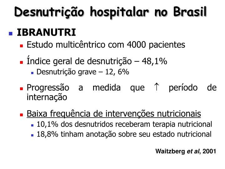 Desnutrição hospitalar no Brasil