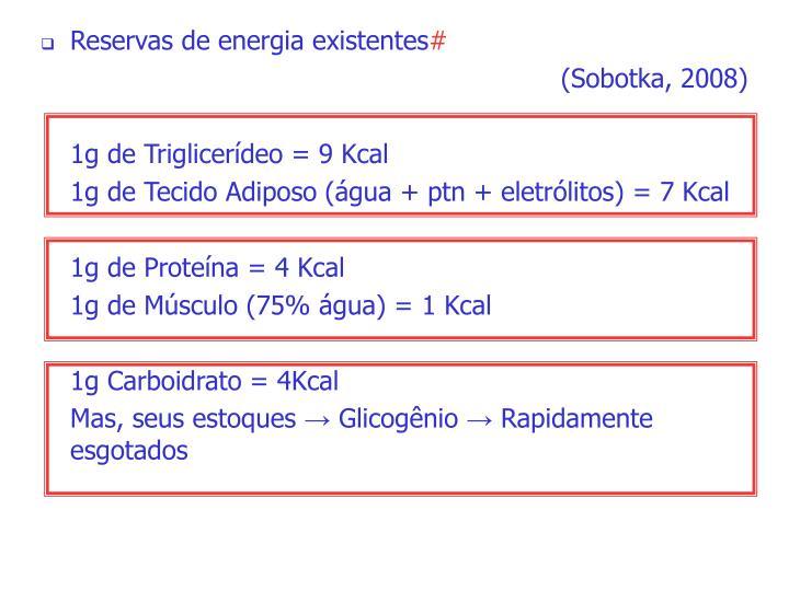 Reservas de energia existentes