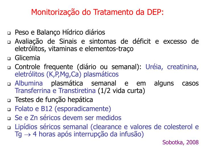Monitorização do Tratamento da DEP: