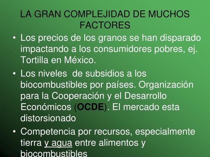LA GRAN COMPLEJIDAD DE MUCHOS FACTORES
