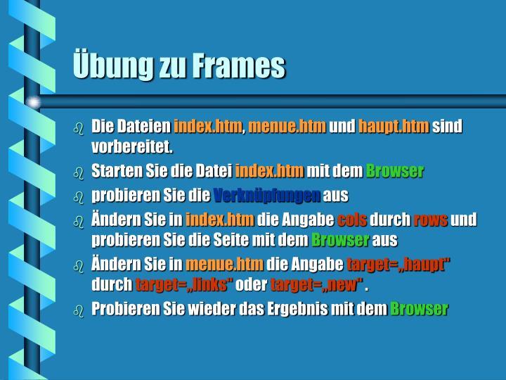 Übung zu Frames
