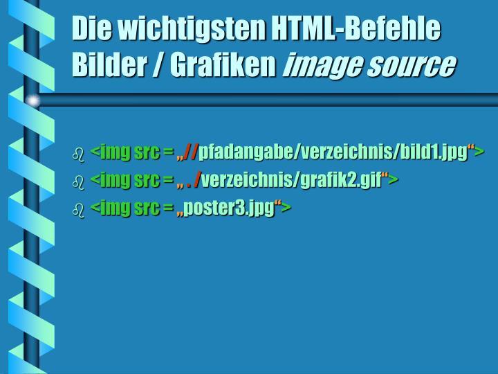 Die wichtigsten HTML-Befehle