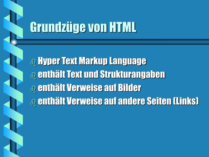 Grundzüge von HTML