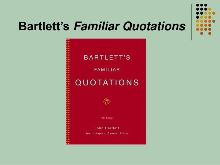 Bartlett's