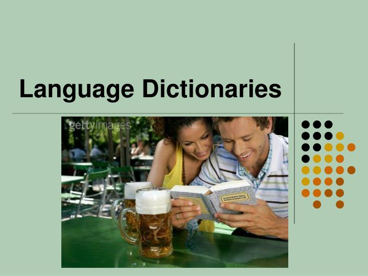Language Dictionaries