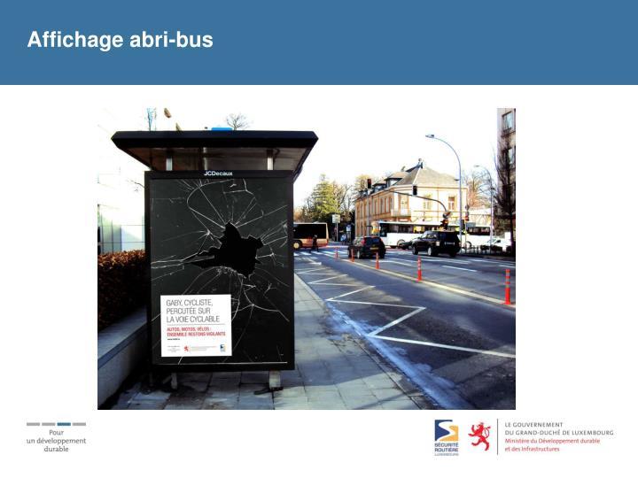 Affichage abri-bus