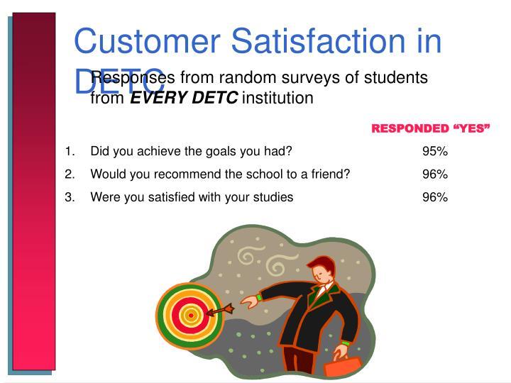 Customer Satisfaction in DETC