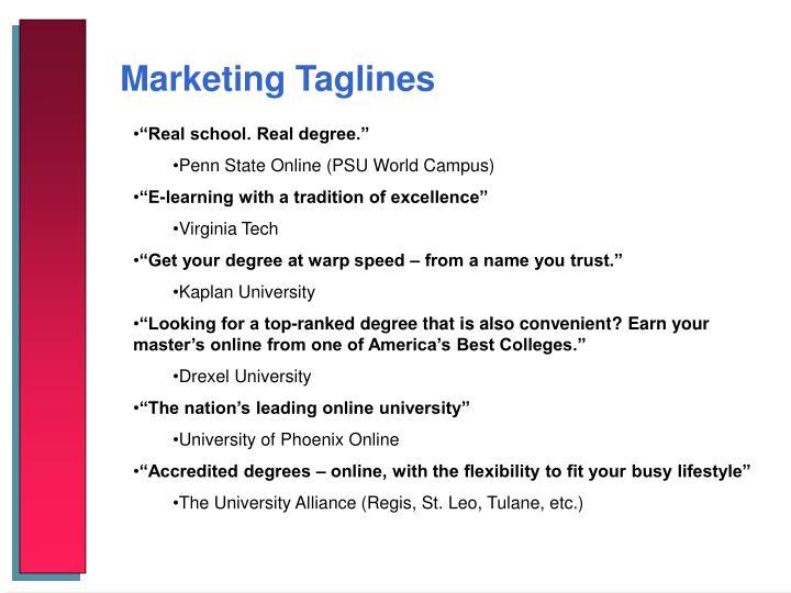 Marketing Taglines