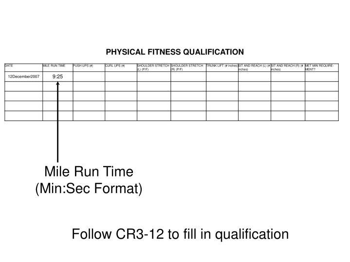 Mile Run Time