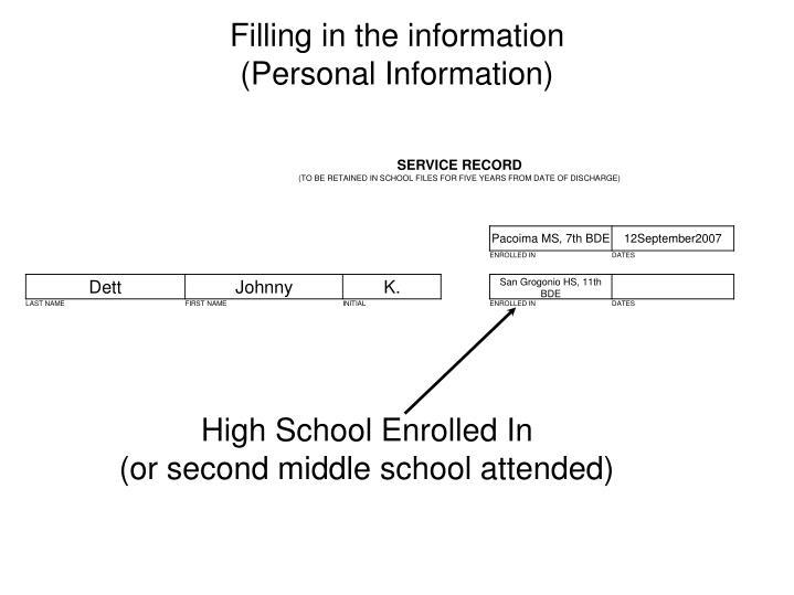 High School Enrolled In
