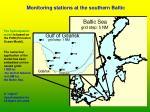 monitoring stations at the southern baltic