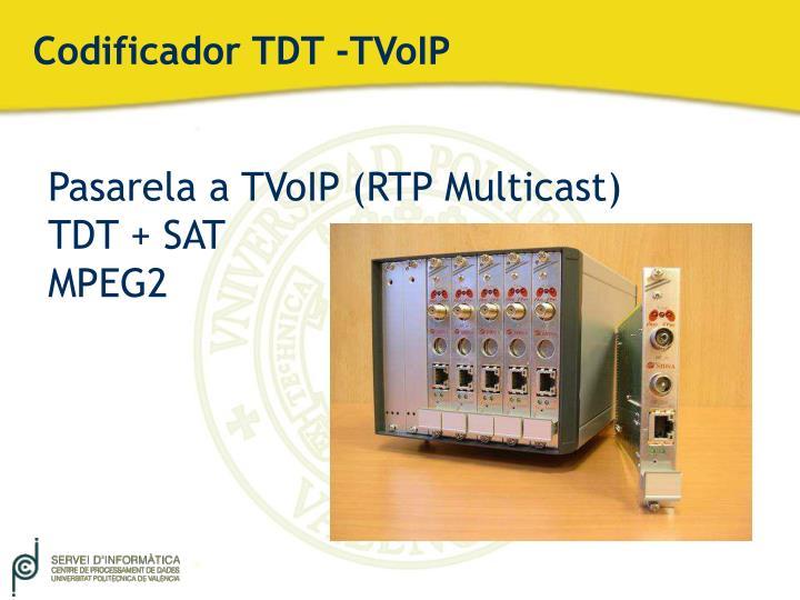 Codificador TDT -TVoIP