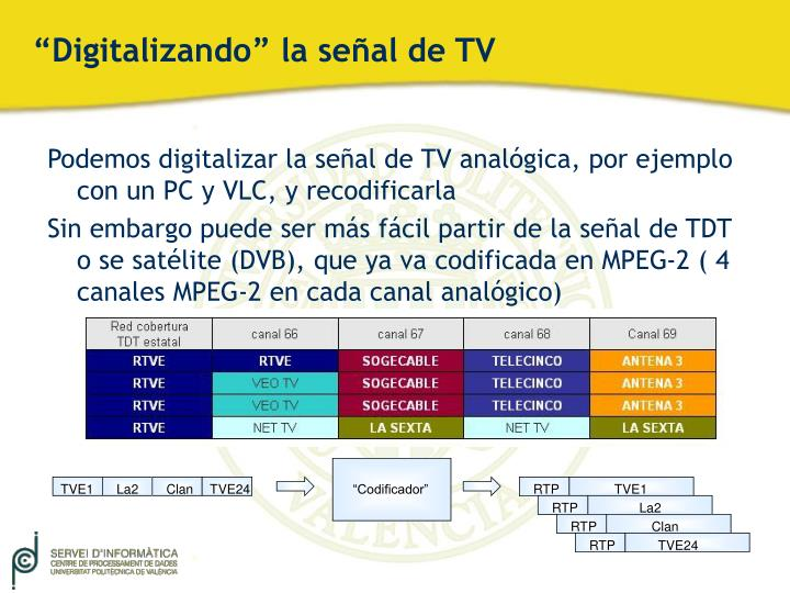 """Digitalizando"" la señal de TV"